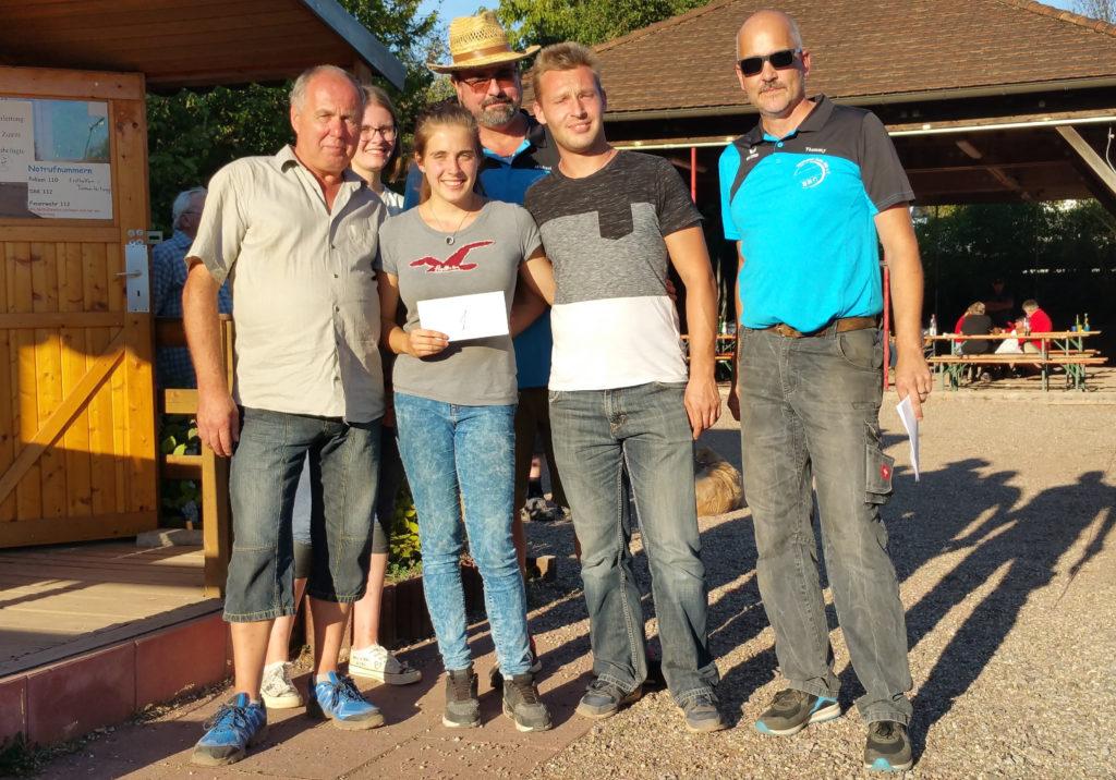Siegerehrung 1. Platz Saubrunnen-Turnier 2019