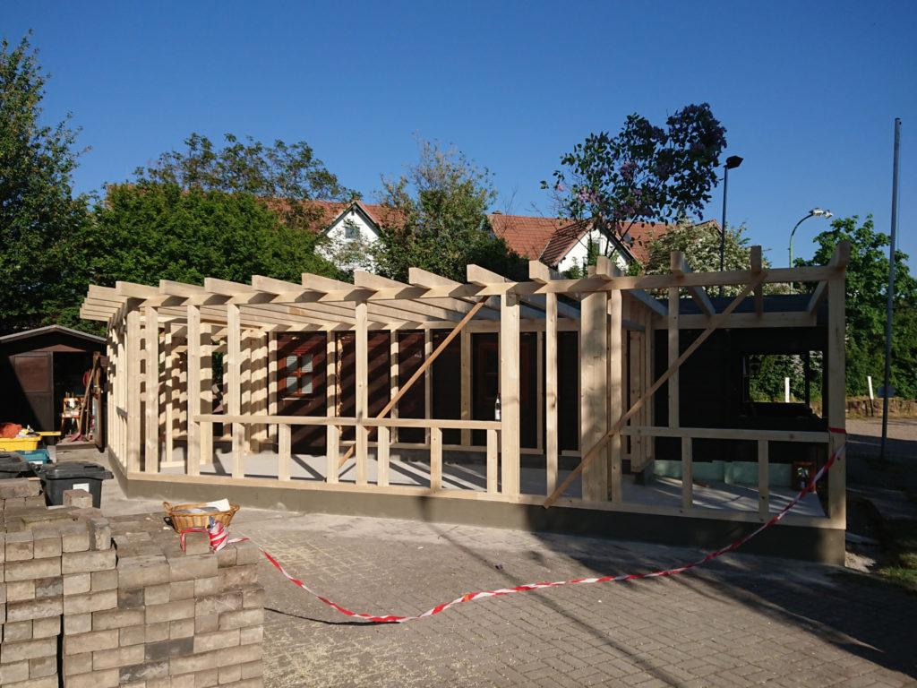 Baufortschritt Holzkonstruktion
